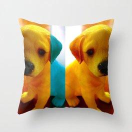 Pup Blues Throw Pillow