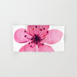 Watercolor cherry blossom Hand & Bath Towel