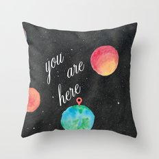 Watercolour Universe Throw Pillow