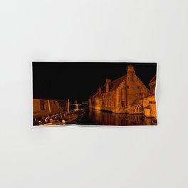 Bruges at night Hand & Bath Towel