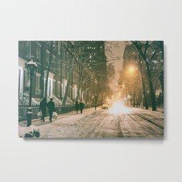 Winter - New York City - Snows Falls - Washington Square Metal Print