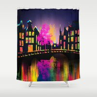 amsterdam Shower Curtains featuring Amsterdam  by mark ashkenazi