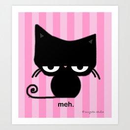 Meh Cat Art Print