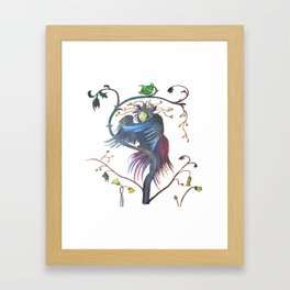 Gamaun Halloween Prophetic Raven Vector Framed Art Print