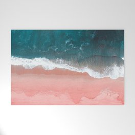 Turquoise Sea Pastel Beach III Welcome Mat