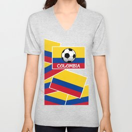 Colombia Football Unisex V-Neck
