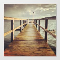 Sunset Dock Canvas Print