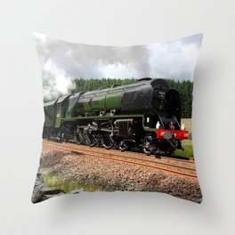 46233 Duchess of Sutherland Throw Pillow