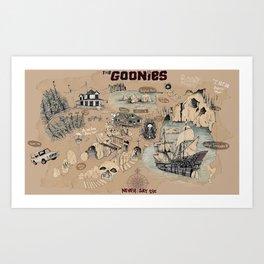 Goonies Map  Art Print