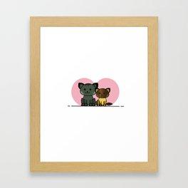 Meet My Cats - Illustration Framed Art Print