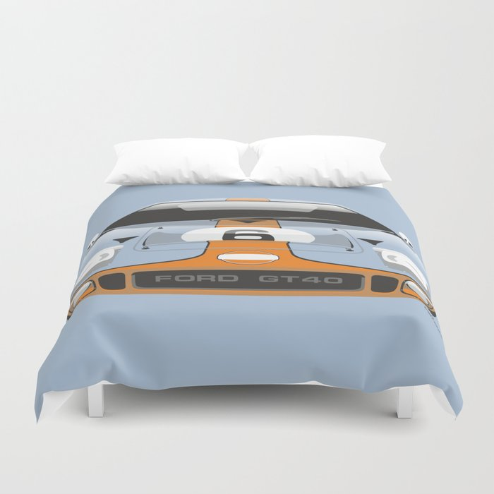 Ford Gt In Gulf Oil Livery Duvet Cover