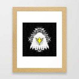 Geometric Eagle Framed Art Print