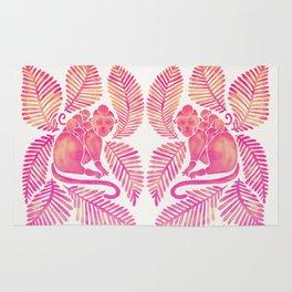 Monkey Cuddles – Pink Palette Rug