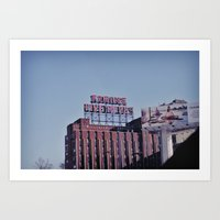 montreal Art Prints featuring MONTREAL by sylvianerobini