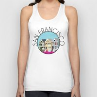 san francisco Tank Tops featuring SAN FRANCISCO by Lauren Jane Peterson