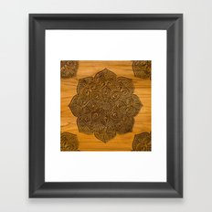 Wood Mandala Framed Art Print
