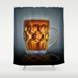 In Search Of The Holy Ale. Shower Curtain