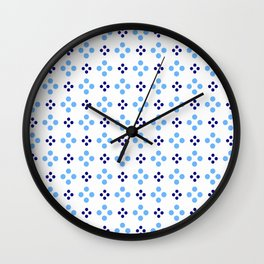 new polka dot 107 dark and light blue Wall Clock