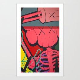 kaws paws Art Print