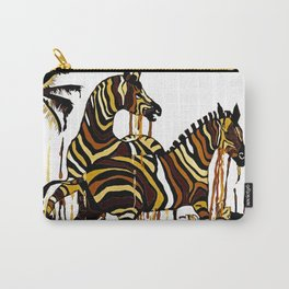 Zebra in Autumn BROWN GOLD YELLOW PATTERN Carry-All Pouch