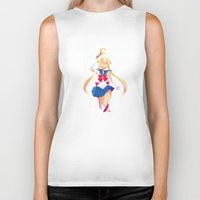 sailor moon Biker Tanks featuring Sailor Moon by Ellen Su