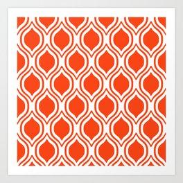Ogee Florida University silhouette orange and blue pattern sports football college gators gator fan Art Print