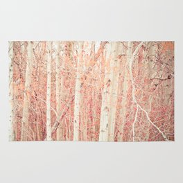 White Birch Trees Rug