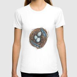 Blue Bird Nest T-shirt