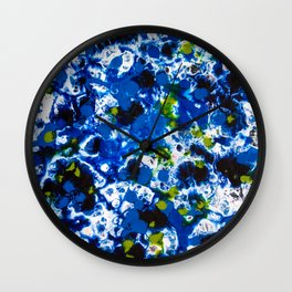 Berlin Stories: Untitled Blue Painting Wall Clock