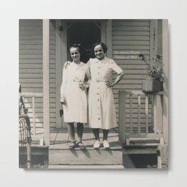 Les soeurs Bisson, Thérèse et Alice - The sisters Bisson, Therese et Alice Metal Print