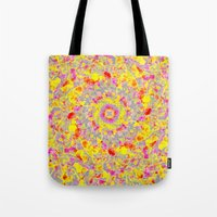 psychedelic Tote Bags featuring Psychedelic by Sandra Arduini
