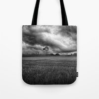 oklahoma Tote Bags featuring Oklahoma Sky by Austin's Designs