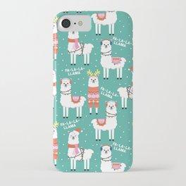 Fa-La-La-Llama iPhone Case