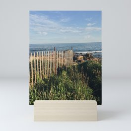 Ocean's Edge Path in Rhode Island Mini Art Print
