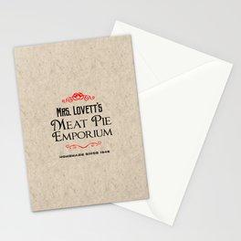 Mrs. Lovett's Meat Pie Emporium (Sweeney Todd) Stationery Cards