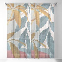 Abstract Tropical Art XIII Sheer Curtain