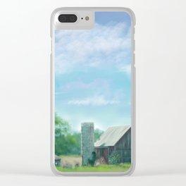 Farmstead Under Blue Skies Clear iPhone Case