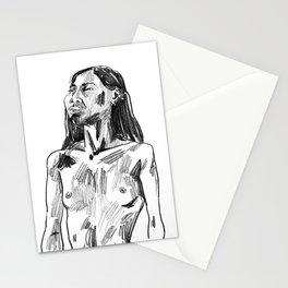 Pencil Portrait of a Bangkokian Woman Stationery Cards