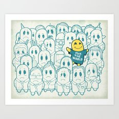 Shining In Shadows Art Print