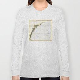 Vintage Georgia & South Carolina Coastline (1874) Long Sleeve T-shirt