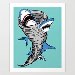 Shark Tornado Art Print