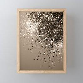 Sparkling Sepia Lady Glitter #1 #shiny #decor #art #society6 Framed Mini Art Print
