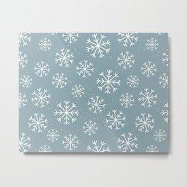 Snow Flakes Winter Metal Print