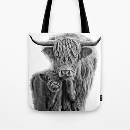 Highland Cow and The Baby Tote Bag