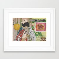 nurse Framed Art Prints featuring Nurse by Sarah Kay Napier