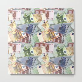 Art of the euro money Metal Print