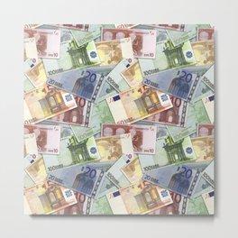 Art of the euro money Metal Print