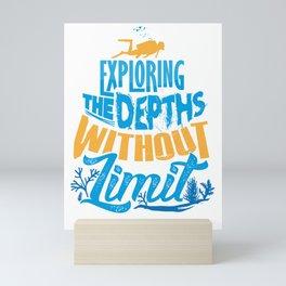 Scuba Diver Exploring the Depths Without Limit Mini Art Print