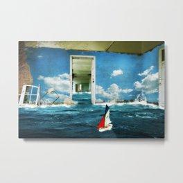 Sailing Condemned Seas Metal Print