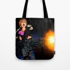 gatling girl Tote Bag